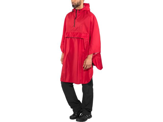 AGU Grant Poncho burgundy red
